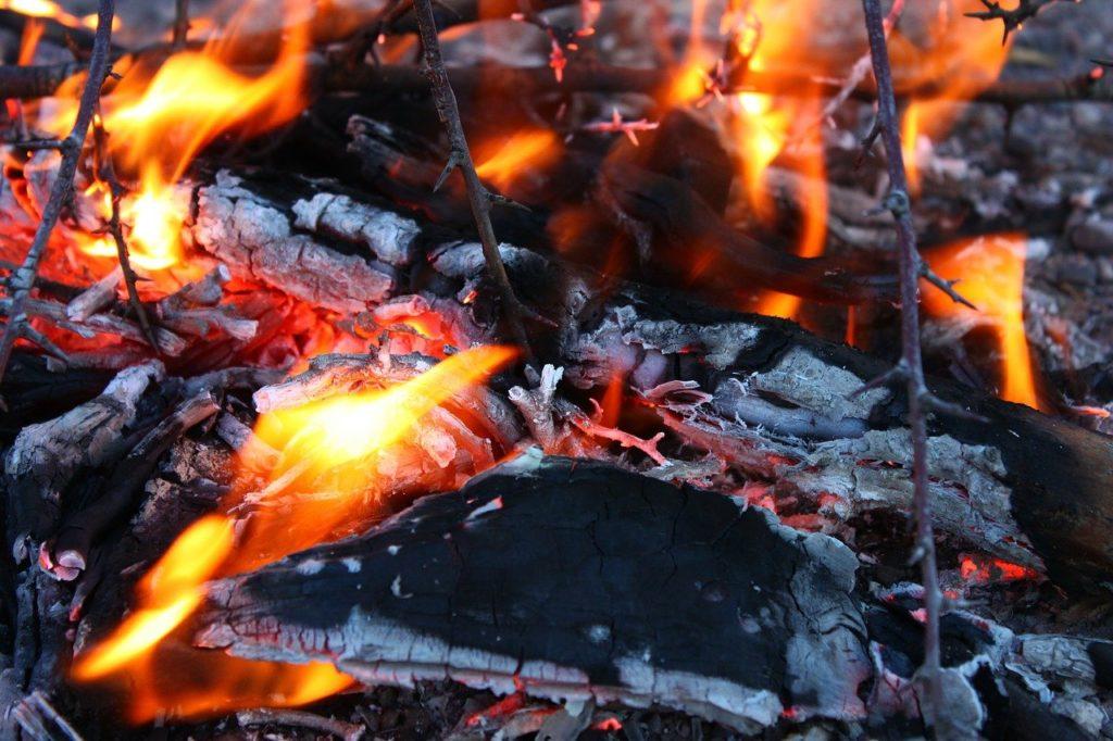 百人一首49番 「みかきもり 衛士のたく火の 夜はもえて 昼は消えつつ 物をこそ思へ」の意味と現代語訳